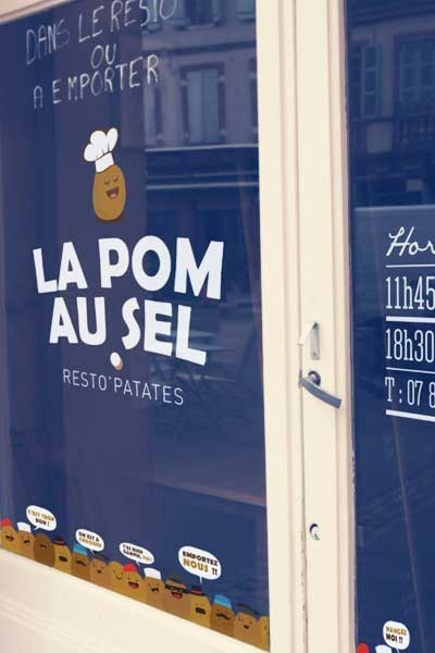 Création typographique vitrine