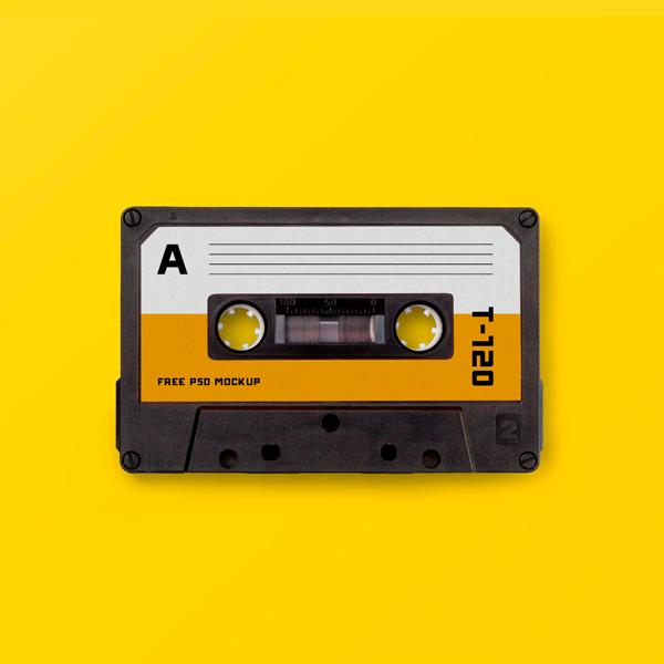 Création mockup music tape
