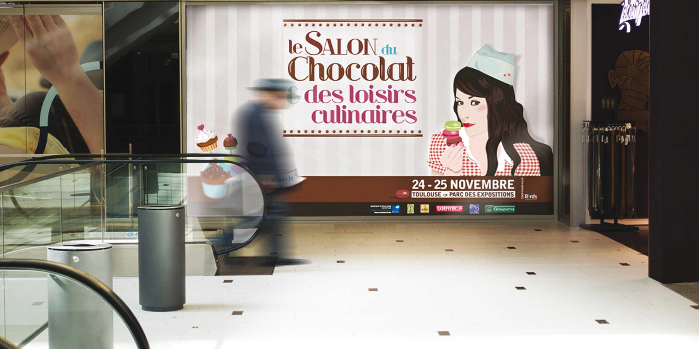 Création affiche Salon du chocolat