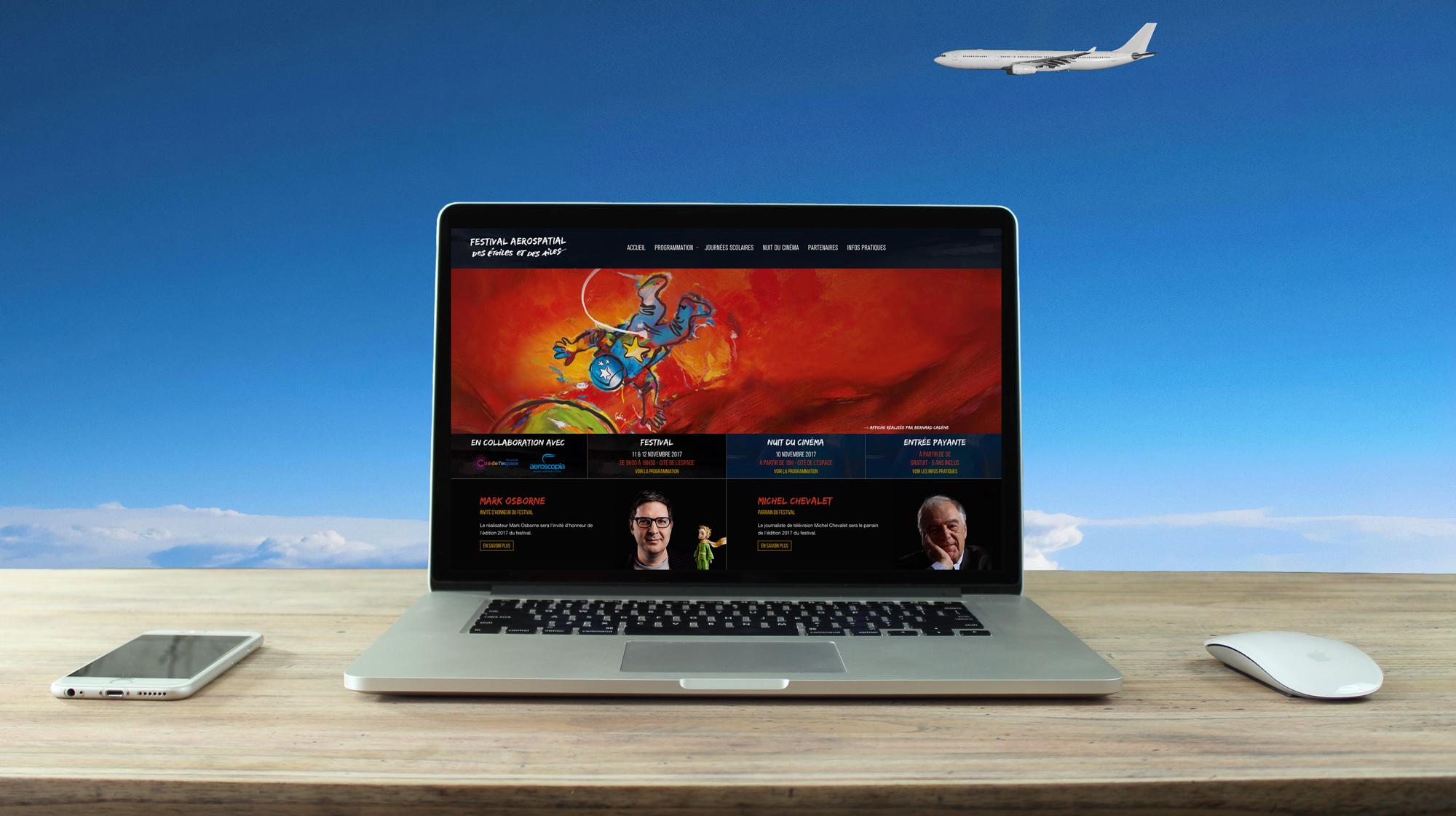 Site internet Des Étoiles et des Ailes