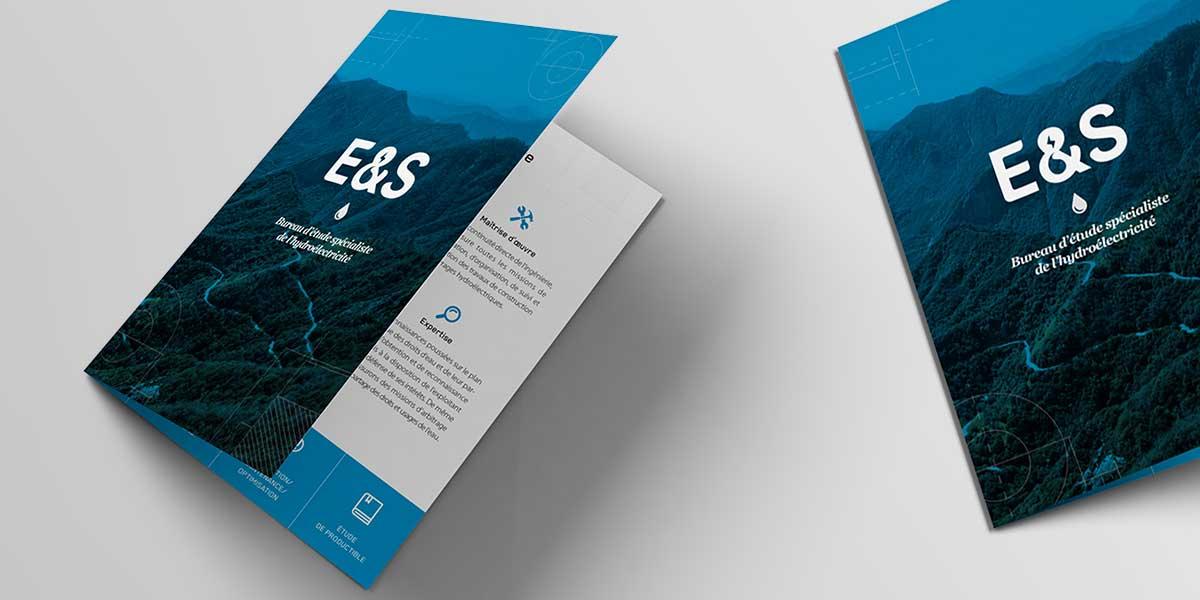 Elaboration et mise en page plaquette hydroélectrique E&S